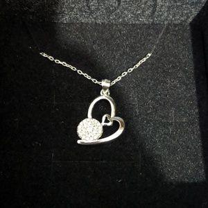 Sliver heart necklace